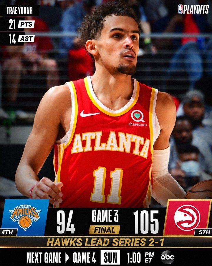 Trae Young løfter Atlanta Hawks for at vinde Knicks i spil 3