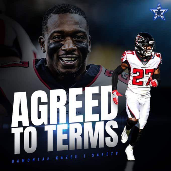 Далас Каубойс и бившият Falcons S Damontae се споразумяха за условия за едногодишна сделка